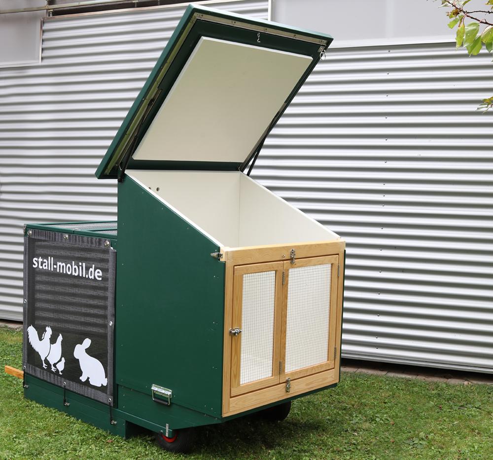 Mobiler Hühnerstall Dach-offen
