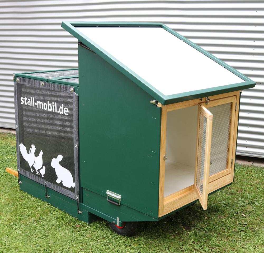 Mobiler Stall für Kaninchen