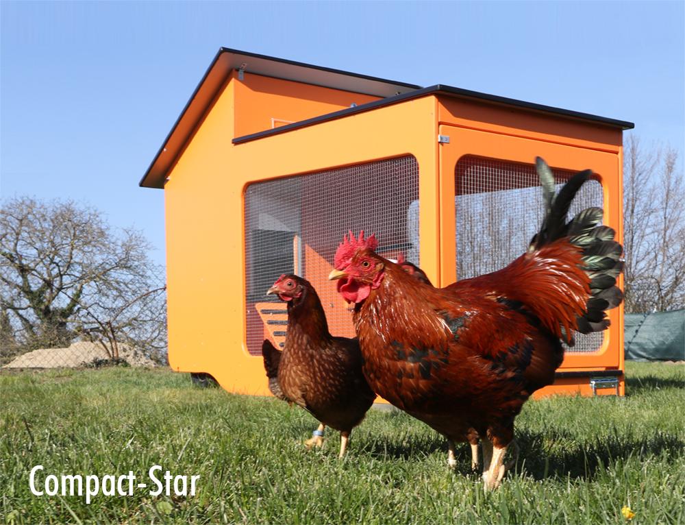 Wetterfester, fahrbarer Hühnerstall für bis zu 6 Hühner