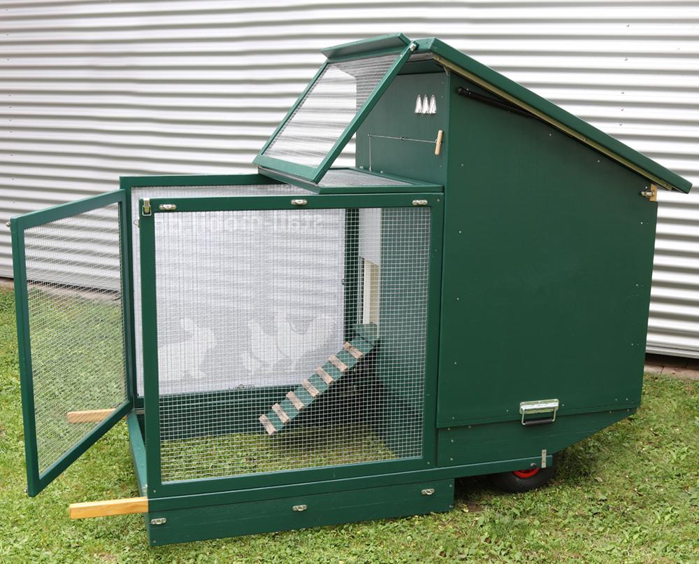 Mobiler Hühnerstall Voliere-ganz-offen