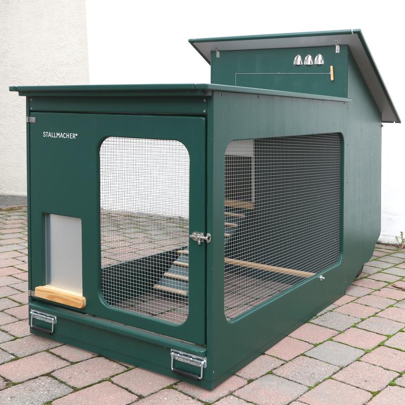 Mobiler Hühnerstall Compact-Star in grün