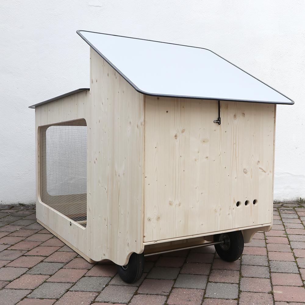 Mobiler Hühnerstall Rückseite