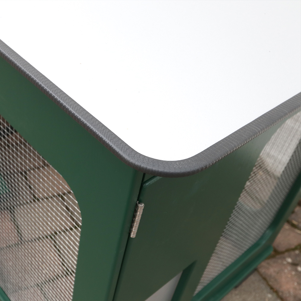 Mobiler Hühnerstall Volierendach