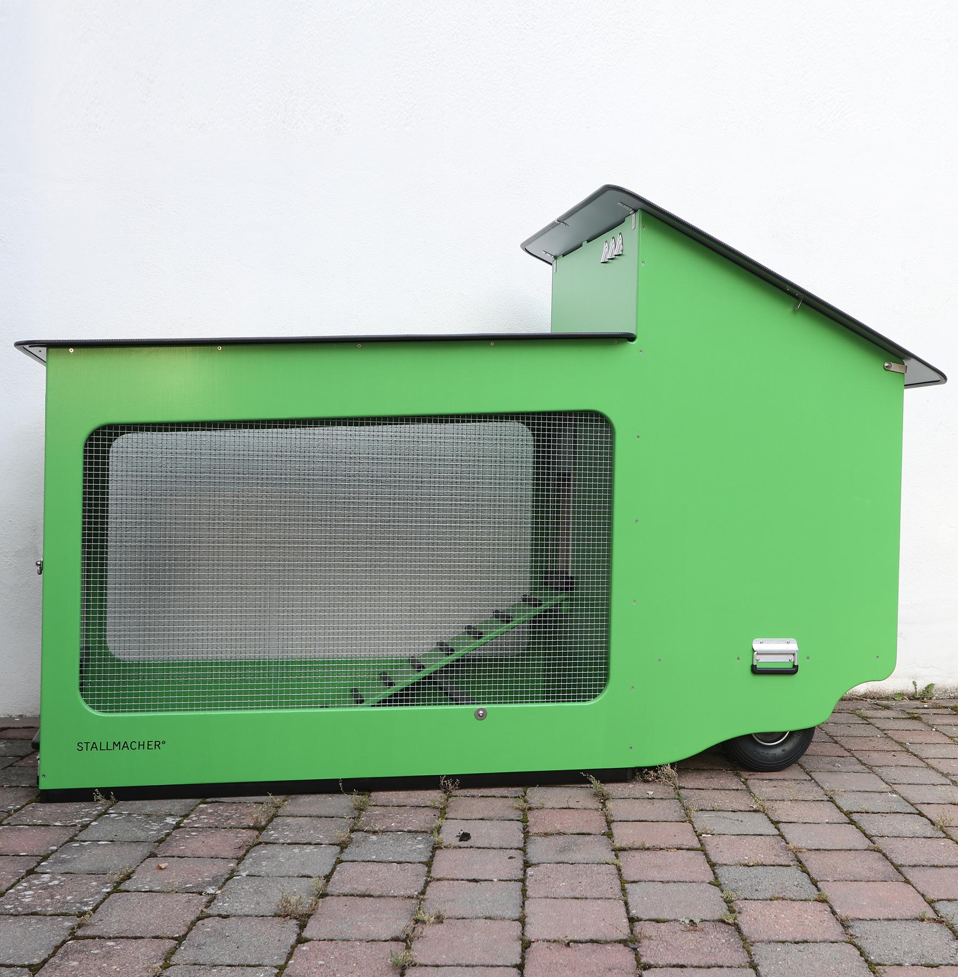 Mobiler Hühnerstall Compact-Star in Moosgrün